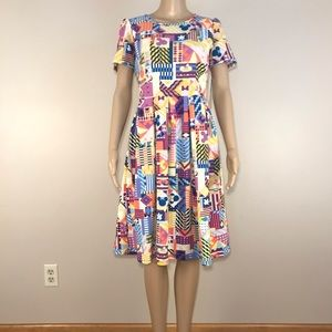LulaRoe Disney Dress Amelia Minnie Mickey Mouse